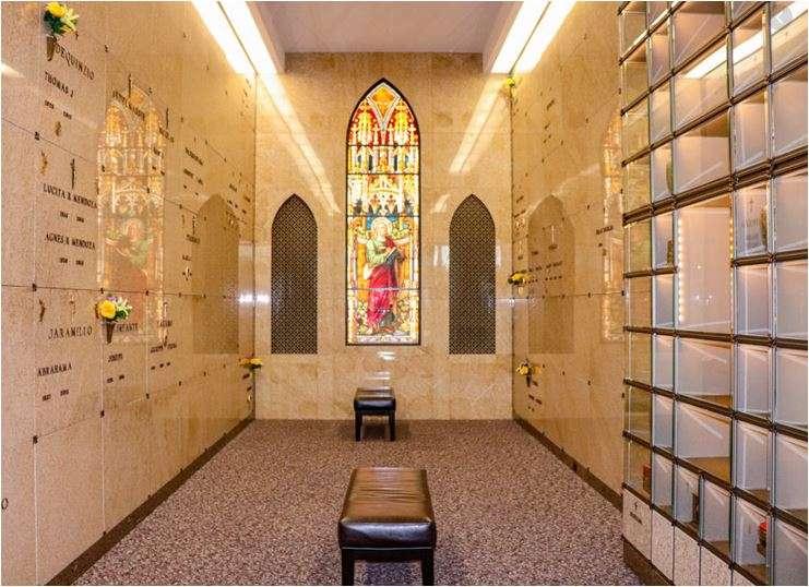 Image of the interior of a Mausoleum
